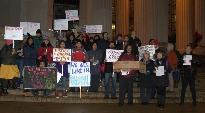 Boston commemorates 30th anniversary of Bhopal Gas Disaster with vigil and chants