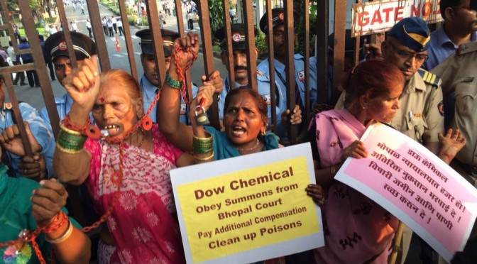 Direct Action at Dow Chemical Mumbai – Photos