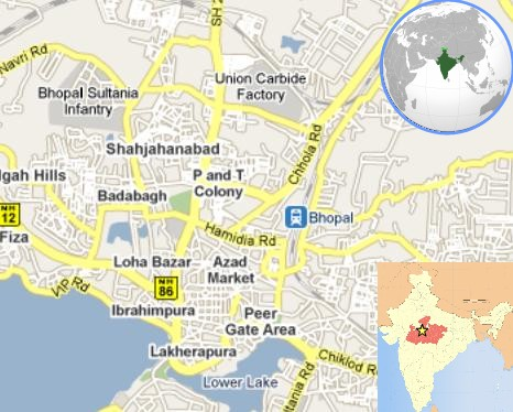 Map of Bhopal