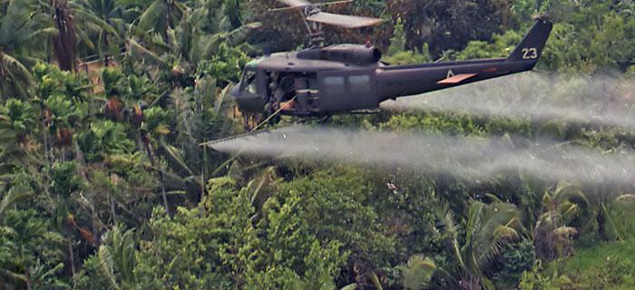 Agent Orange helicopter